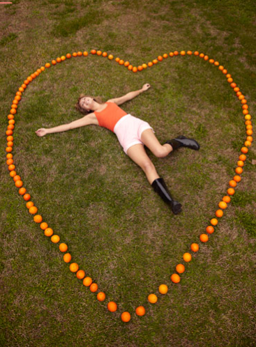 Orange heart thayer photo
